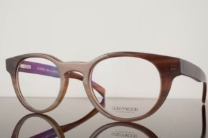 gold & wood eyewear